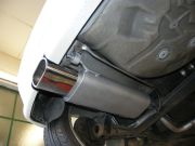 Volkswagen Polo hátsó sport kipufogódob csere ovális díszvéggel