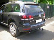 Volkswagen Touareg V6 TDi polirozott saválló ovál kipufogó végek