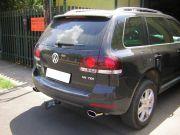 Volkswagen Touareg V6 TDi rozsdamentes kipufogó végekkel