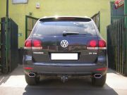 Volkswagen Touareg V6 TDi rozsdamentes ovál kipufogó végekkel