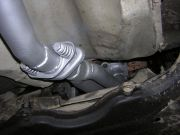 Volkswagen Golf IV 1.6 utángyártott kipufogó ikercső tűzkarikás rezgéscsillapítóval