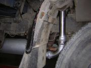 tehergépjármű kipufogó cső, flexibilis cső, csatlakozó beépítés