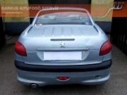 Peugeot 206 CC 2.0 16v hátsó kipufogódob szolíd hangzással